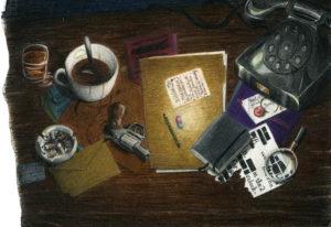 Illustrasjon: Investigation av Joshua Tabti
